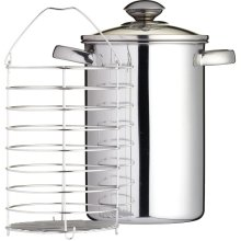 KitchenCraft Induction-Safe Stainless Steel Asparagus Steamer Pan