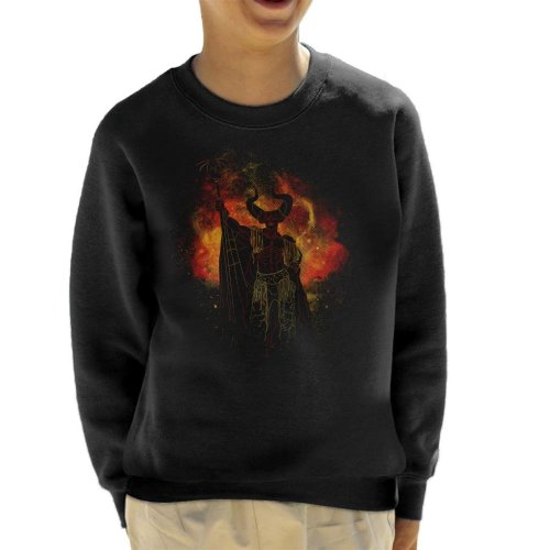 Lord Of Darkness Silhouette Legend Kid's Sweatshirt
