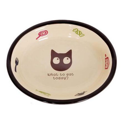 One Little Ceramic Feeding Pot/Pet Bowl/Dog Bowl/Cat Bowl For Food & Water 16x3.5CM (C#12)