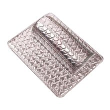 Nail Art Arm Rest Holder PU Leather Soft Hand Cushion Pillow & Pad Rest Silver