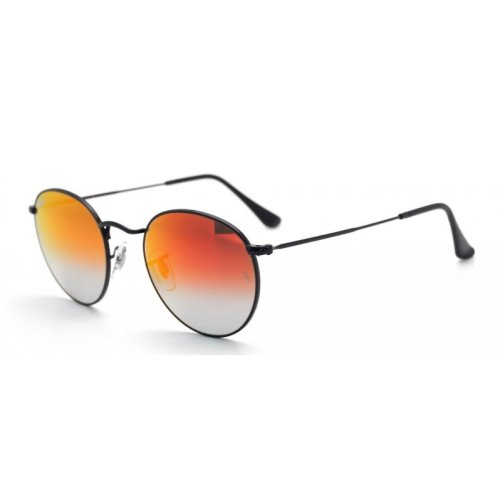 Ray-Ban Round Flash Lenses Gradient Sunglasses RB3447-002/4W-50