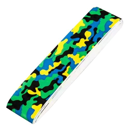 2 PCs Camouflage PU Soft Absorb Moisture Anti-slip Overgrip for Badminton(Green)