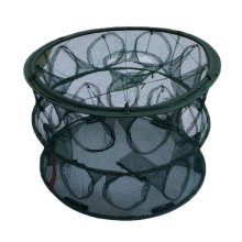 Round Fishing Net Baits Cast Mesh Trap for Small Fish Shrimp Crayfish Crab - 21 Holes