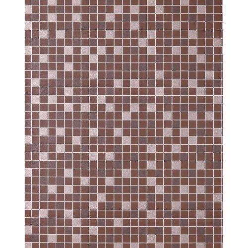 EDEM 1022-14 kitchen wallpaper mosaic tile design dark brown silver 5.33 sqm