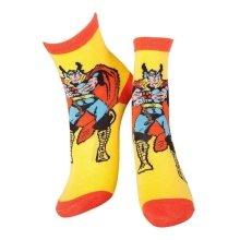 MARVEL COMICS Thor and Mjolnir Crew Socks 39/42 yellow/Orange CR115904MAR-39/42
