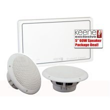 Keene KLABXB 20w Bluetooth Express In Wall Amplifier kit including a pair Of CMS5MR Speakers