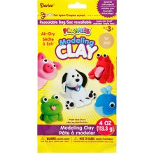 Foamies(R) Air-Dry Modeling Clay 4oz-Tan