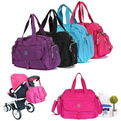 LANDUO Large Baby Changing Bag Infant Mummy Diaper Nappy Shoulder Handbag 5 in 1