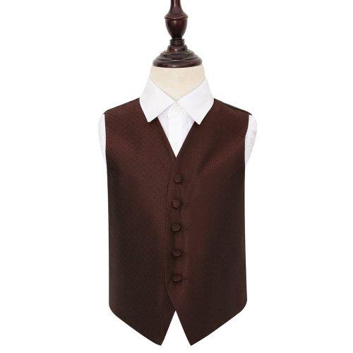 Burgundy Greek Key Wedding Waistcoat for Boys 26'