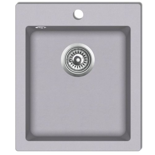 Overmount Kitchen Sink Single Basin Granite Grey