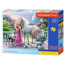 Csb030088 - Castorland Jigsaw Premium 300 Pc - My Friend Unicorn
