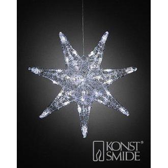 Xmas 45cm Hanging Acrylic 7-Tip Star Light 32 LED