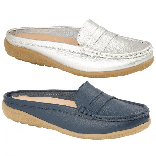 ladies Santa Monica Real Leather mule loafers
