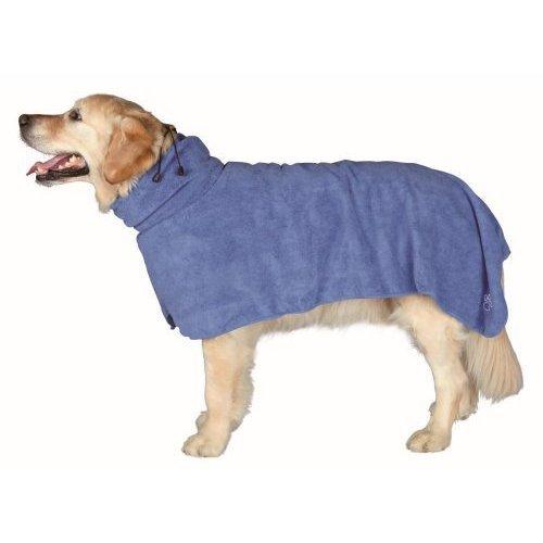 Dog Bathrobe, Extra Smalll - 30cm - Bathrobe Drying Trixie Towel Coat Blue New -  dog bathrobe drying trixie towel coat blue new sizes microfibre