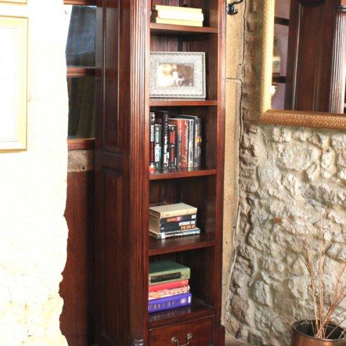 La Roque Mahogany Furniture Narrow Alcove Bookcase