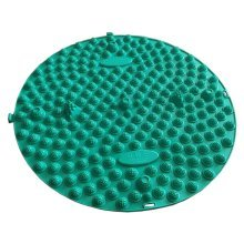 Round Foot Massager Therapy Mat Foot Massage Pad Shiatsu Sheet [Green]