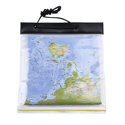 Dreamtop PVC Waterproof Map Case Transparent Pouch Dry Bag for Camping Hiking with Neck Cord
