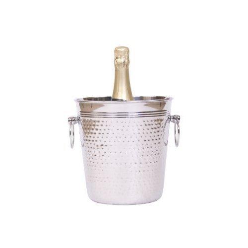 Epicurean Hammered Steel Elegant Champagne Bucket, Stainless Steel, Silver