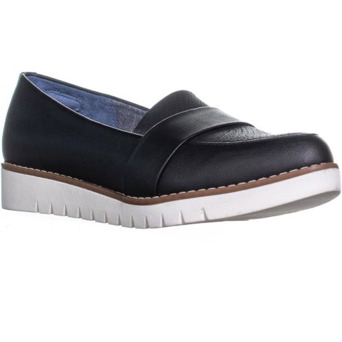 Dr. Scholl's Imagine Pointed Toe Loafers, Black, 5.5 UK