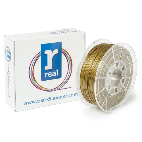 Real Filament 8719128325040 Real PLA, Spool of 1 kg, 1.75 mm, Gold
