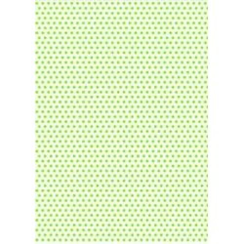 5 x A4 Chartreuse Polka Dot Card Stock, Dot Size:- Medium - PD23