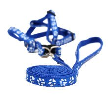 Durable Dog Collar Leash Strap For Puppy Pet,blue