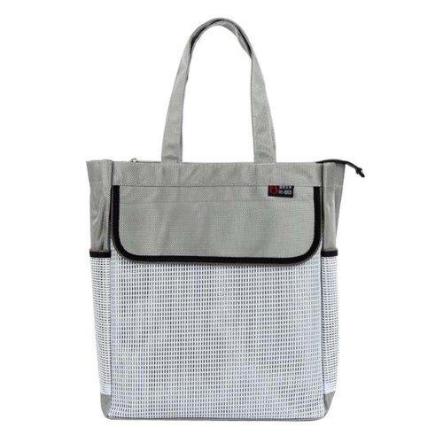 Portable Document Organizer A4 Zipper Bag Waterproof Storage Bag-Gray