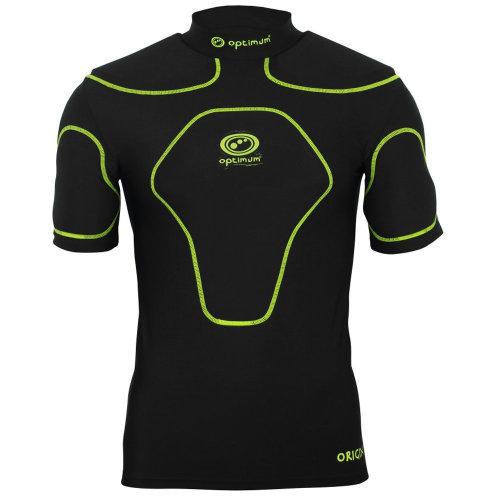Optimum Origin Rugby Body Protection Shoulder Pads Black/Fluro