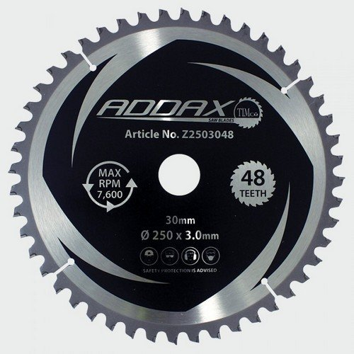 Addax Z2503048 TCT Mitre Saw Blade 250 x 30 x 48T