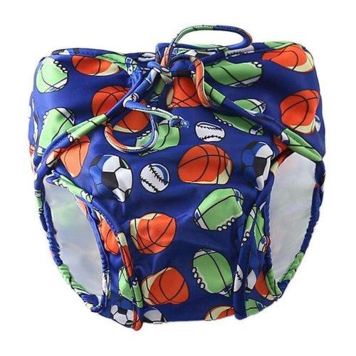 [Football-2] Reuseable Baby Swim Diaper Lovely Infant Swim Nappy Swimwear