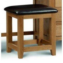 Rachel - Oak - Dressing Table Padded Stool - Fully Assembled