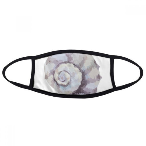Colorful Marine Life Snail Illustration Mouth Face Anti-dust Mask Anti Cold Warm Washable Cotton Gift