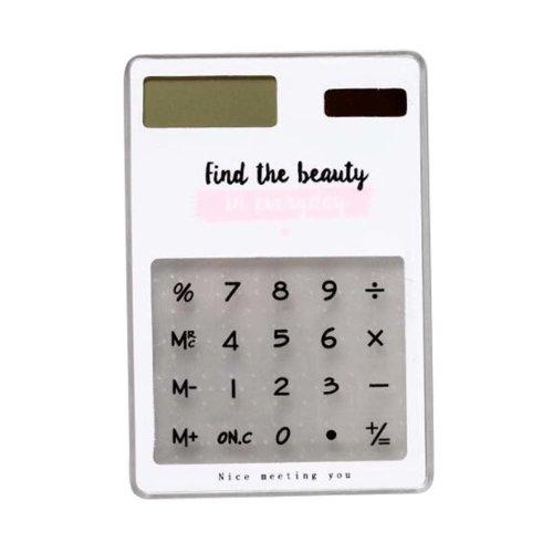 Slim Student Desktop Eco-friendly Solar Calculator Portable Calculator-F2