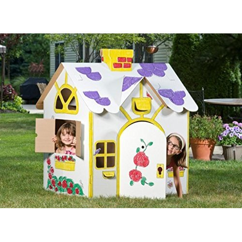 Box Creations Corrugated Play House Markers Included