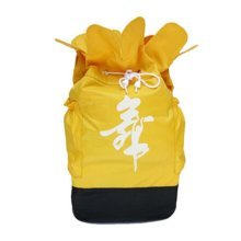 Petal Design Dance Dags Latin Ballet Drawstring Backpack Supply, Yellow