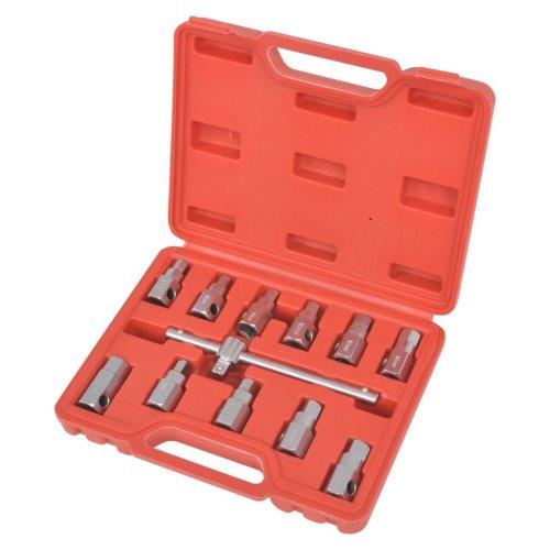 "vidaXL 3/8"" Oil Drain Sump Plug Hex Key Set Plug Remover Socket Hand Tool"