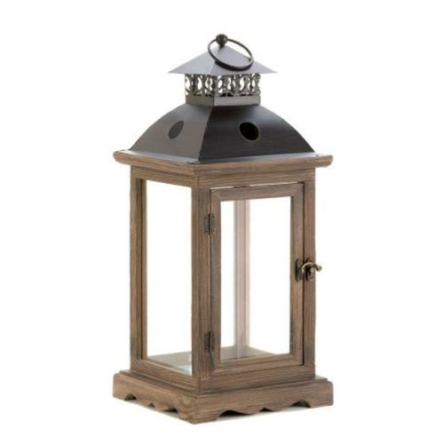 Home Locomotion  Large Rustic Wood Lantern