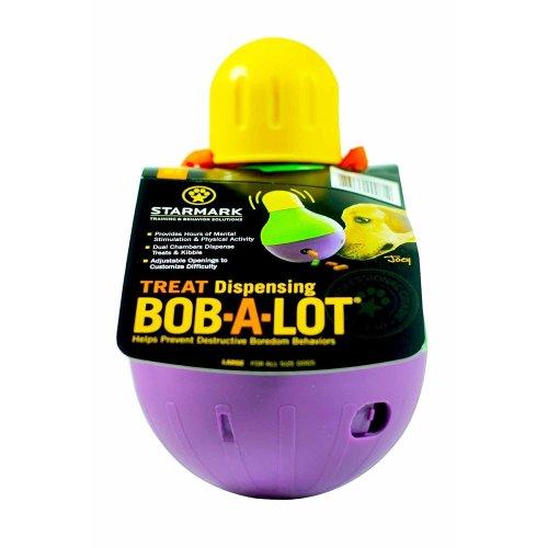 (Small) Starmark Treat Dispensing Bob-A-Lot | Dog Treat Dispenser Toy