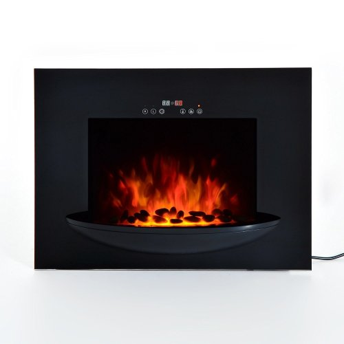 Homcom Wall Mounted Electric Fireplace | LED Flame Heater 1800w