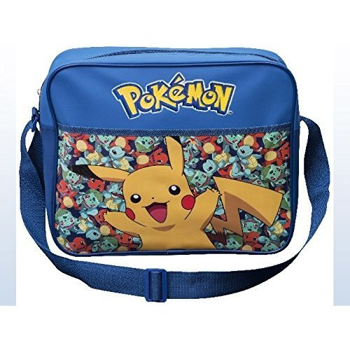 Pokemon Pikachu Dispatch Courier Bag Children's Blue Shoulder College  Schoolbag