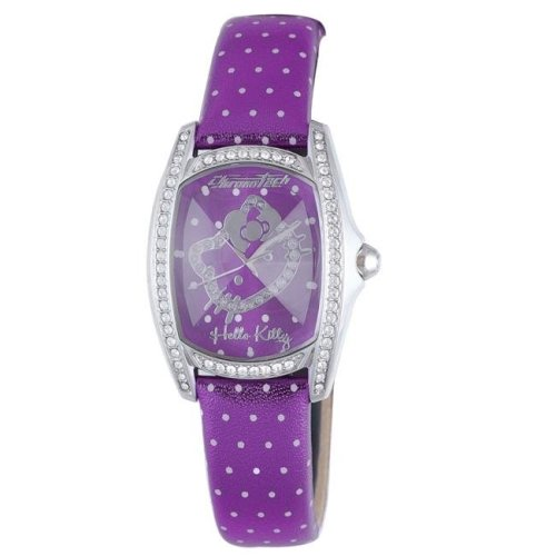 Hello Kitty CT.7094SS-43 Stainless Steel Purple Leather Watch