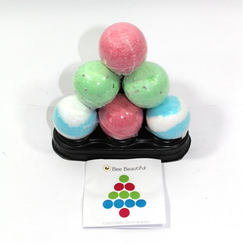 Bath Bombs Chirstmas Pyramid - 10 x 65g bath bombs