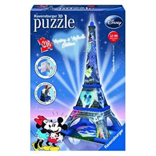 Ravensburger Mickey and Minnie Eiffel Tower 3D Puzzle (216 Pieces)