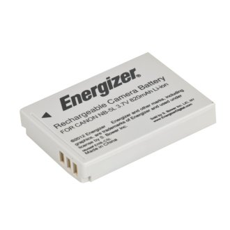 Energizer ENB-C5L Digital Replacement Battery NB-5L for Canon ENB-C5L
