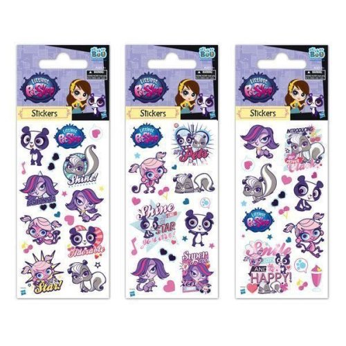 5 x Quality Sticker Sheets | LITTLEST PET SHOP | Party Bags & Decoration