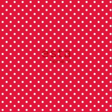 HD non-woven wallpaper dots red and white