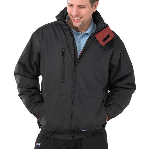 Click MUBJBL4XL Mercury Bomber Jacket Fleece Lined With Zip Away Hood Black 4XL
