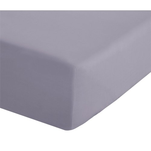 Catherine Lansfield Easy Iron Percale King Fitted Sheet Lilac