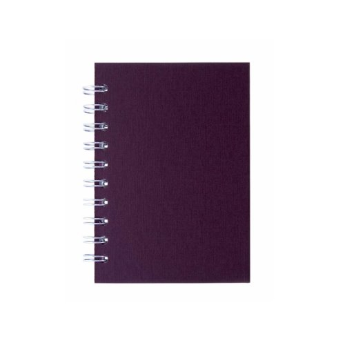 Pink Pig A6 Portrait, Eco Aubergine - Notebook Lined Paper 70 Leaves