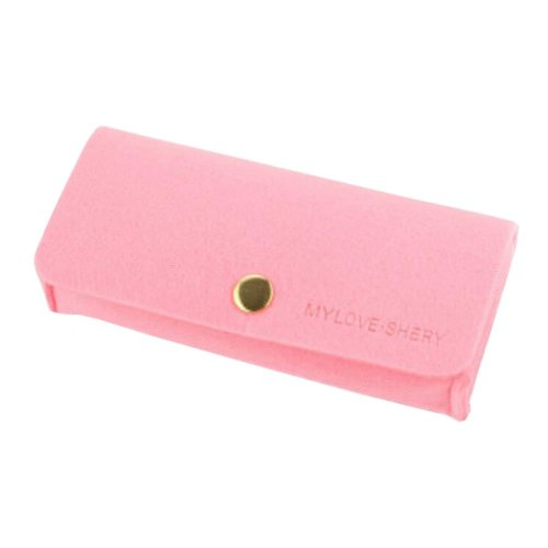 Eyeglasses Storage Case Pink Holder Pouch Felt Material